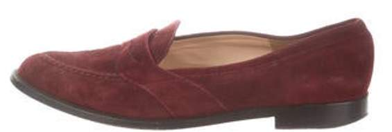 Manolo Blahnik Suede Penny Loafers Suede Penny Loafers