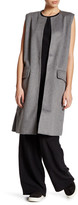Cupcakes And Cashmere Sleeveless Wool Blend Long Vest