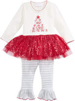 Bonnie Baby 2-Pc. Holiday Tutu Tunic and Leggings Set, Baby Girls (0-24 months)