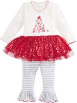 Bonnie Baby 2-Pc. Holiday Tutu Tunic and Leggings Set, Baby Girls