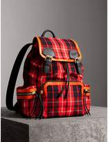 Burberry The Large Rucksack in Tartan Check Cotton