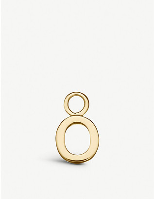 Selfridges Alphabet Hoop O gold charm
