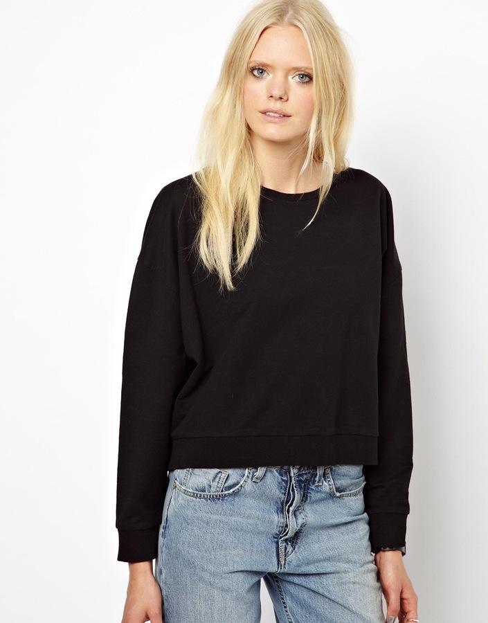 Just Female Cropped Batwing Sweatshirt