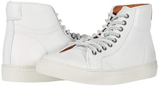 Frye Walker Midlace (White Tumbled Cow) Men's Lace up casual Shoes