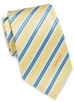 Versace Regimental Stripe Silk Tie