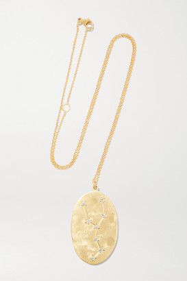 Brooke Gregson Taurus 14-karat Gold Diamond Necklace