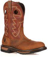 Rocky Original Ride Branson Roper Men's 11-in. Waterproof Western Work Boots