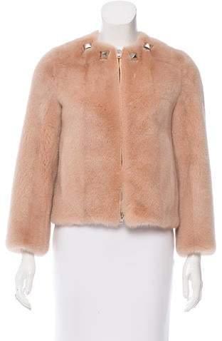 Givenchy Stud-Embellished Mink Jacket w/ Tags