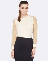 Oxford Beca Silk Sleeve Top