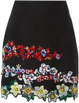 MSGM embroidered floral mini skirt