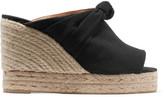 Castaner Belinda knotted canvas wedge sandals