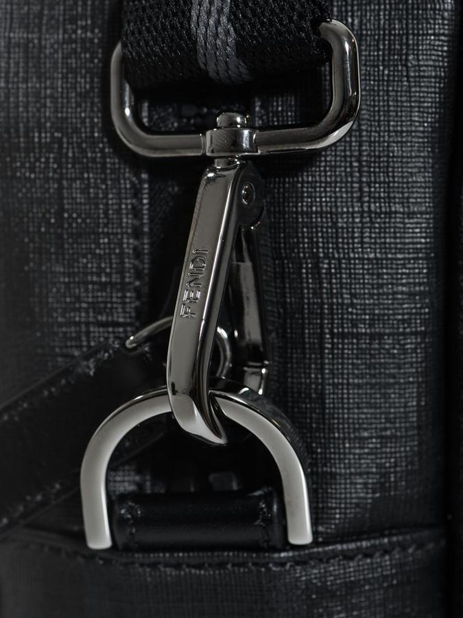 Fendi Tonal logo leather briefcase