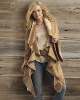 Fabulous shawl collar faux-shearling coat
