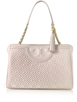 Tory Burch Fleming Quilted Leather Open Shoulder Bag