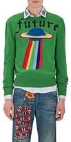 "Gucci Men's ""Future"" UFO-Intarsia Wool Sweater"