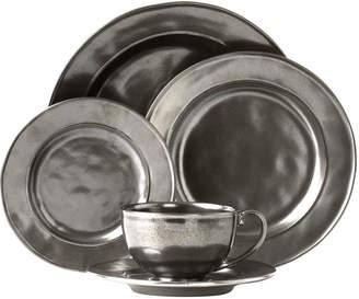 Juliska 5-Piece Pewter Stoneware Dinnerware Place Setting