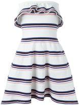 MSGM stripe ruffle dress - women - Cotton/Polyamide/Spandex/Elastane - M