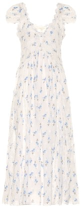 LoveShackFancy Archer floral cotton dress