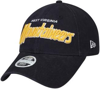 New Era Women's Navy West Virginia Mountaineers Retroscript 9TWENTY Adjustable Hat