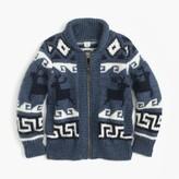 J.Crew Boys' wool shawl zip cardigan sweater