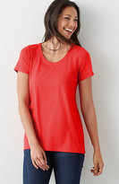 J. Jill Perfect Pima Elliptical Tee