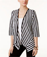 Alfani Striped Linen-Blend Cardigan, Created for Macy's