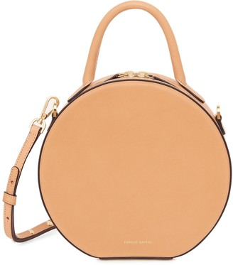 Mansur Gavriel Vegetable Tanned With Edge Paint Circle Crossbody - Cammello