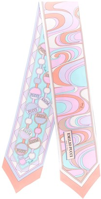 Emilio Pucci Mirei and Chain Print Twilly Scarf