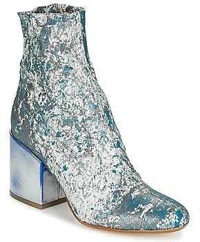 NOW LUNA women's Low Ankle Boots in Blue