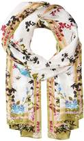 Vince Camuto Shadow Blossoms Silk Oblong Scarves