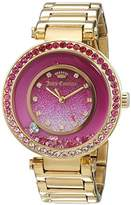 Juicy Couture Cali Women's Quartz Watch with Pink Dial Analogue Display and Gold Rose Gold Bracelet 1901404