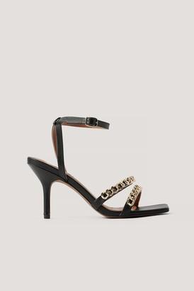 NA-KD Chunky Chain Strappy Heels