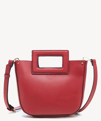 Sole Society Women's Amber Crossbody Vegan Bag Leather Berry Vegan Leather From