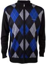 Pierre Cardin Mens New Season Zip Through Argyle Knitted Cardigan