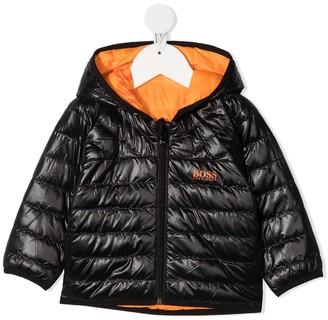 Boss Kidswear Hooded Padded Jacket