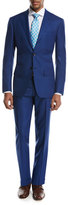 Kiton Menswear Textured Solid Two-Piece Suit, High Blue