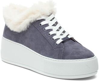 J/Slides Mellia Faux Fur Sneaker
