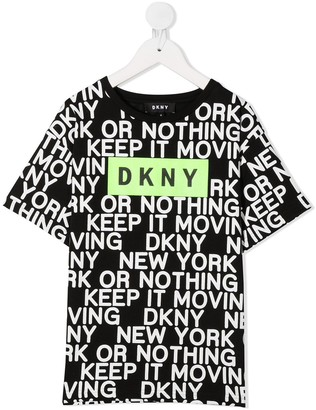 DKNY graphic-print cotton T-shirt