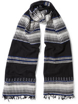 Lemlem Wubit Embroidered Cotton-blend Scarf - Black