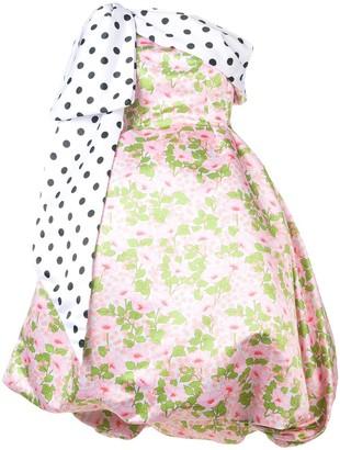 Richard Quinn puffball floral dress