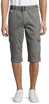 Point Zero Belted Hybrid Sweat Denim Shorts