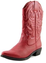 Rampage Valiant Women Pointed Toe Synthetic Red Western Boot.