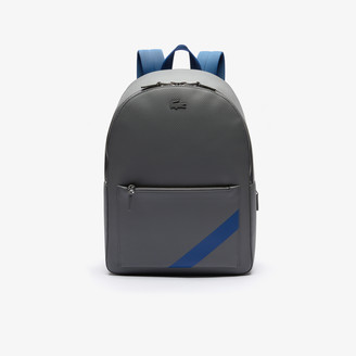 Lacoste Men's Chantaco Colorblock Matte Stitched Leather Backpack