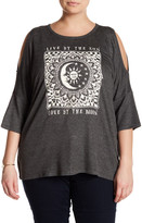 Hip Cold Shoulder Graphic Tee (Plus Size)