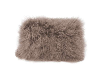 Moe's Home Collection Lamb Fur Pillow Rect. Gray