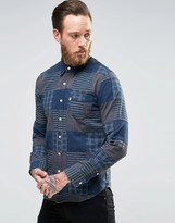Levis Levi's Sunset Pocket Patchwork Shirt Indigo