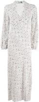 Rixo Long Wave-Print Shirt Dress