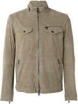 John Varvatos lightweight jacket - men - Polyamide/Goat Suede - 48