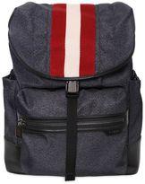 Bally Nylon Backpack W/ Web Detail