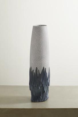 L'OBJET + Haas Brothers Mojave Medium Earthenware Vase - Blue